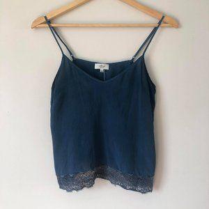 ARITZIA Wilfred Silk Chimère Camisole Blue S